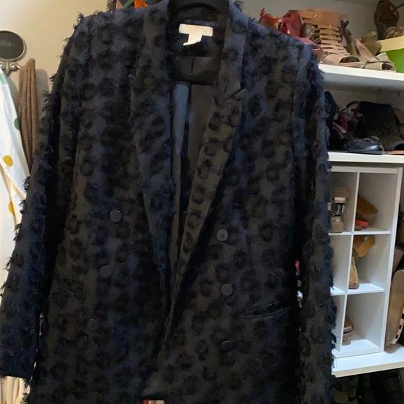 H&M navy blazer with fringe size 8